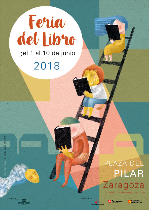 El cartel de la Feria del Libro de Zaragoza 2018 está diseñado por la ilustradora María Felices