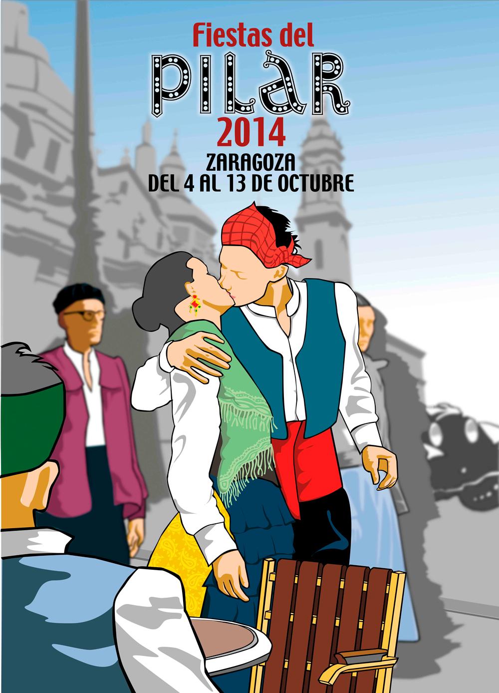 El cartel, 'El besico' uno de los favoritos de las Fiestas del Pilar