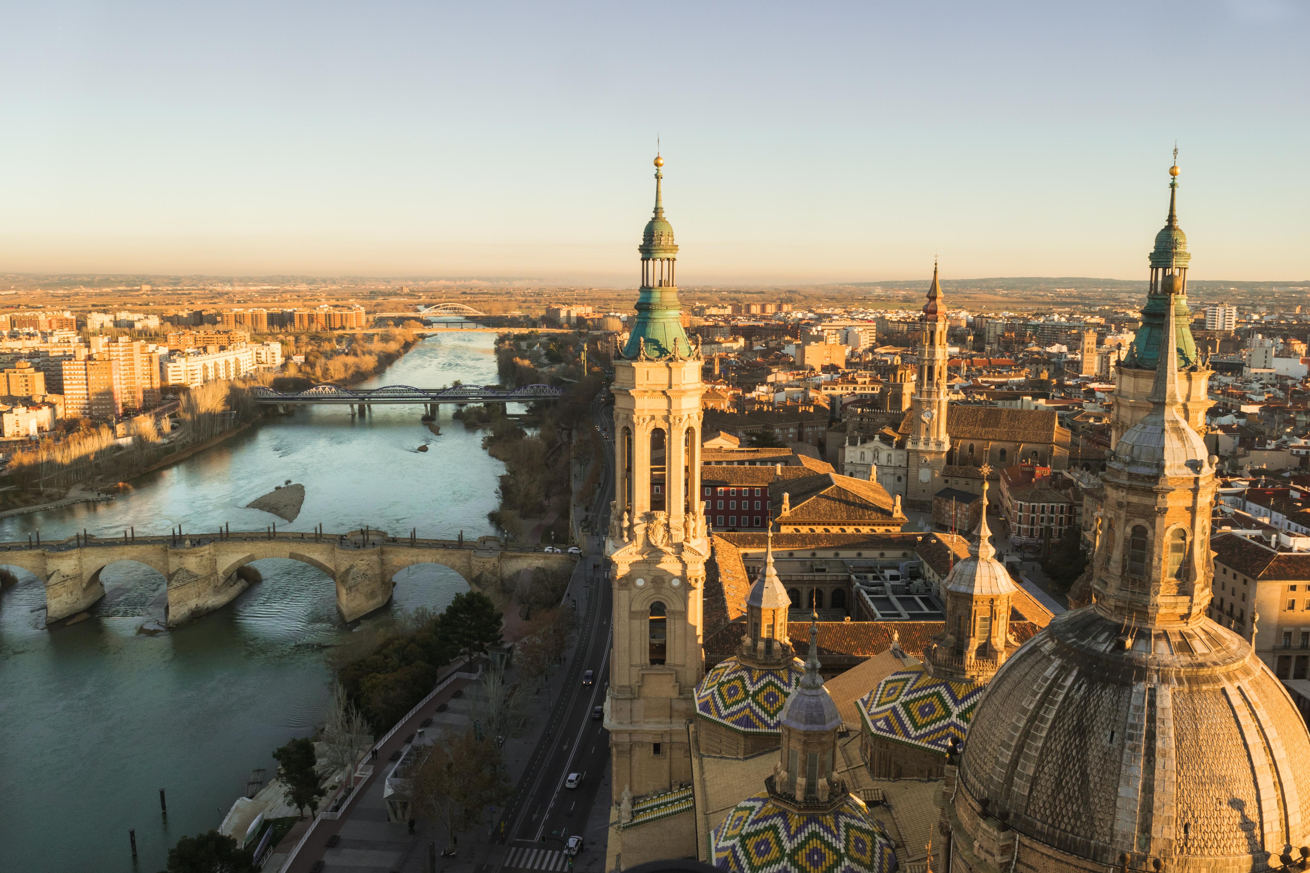 Vistas desde la torre de la Basílica del Pilar de Zaragoza - Gregorio Puga Bailón