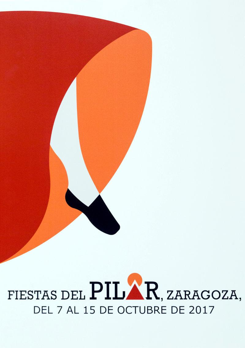 'A la J, Jota', cartel de las Fiestas del Pilar 2017