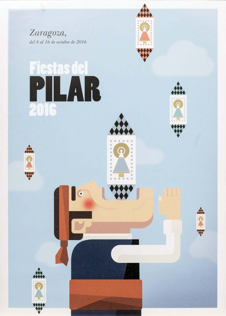El 'Tragadoquines', un cartel divertido para representar las fiestas 2016