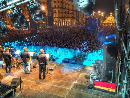 Pilares con buen ambiente - Foto de Aragón Radio en el concierto de la Ronda de Boltaña como cierre de las Fiestas del Pilar
