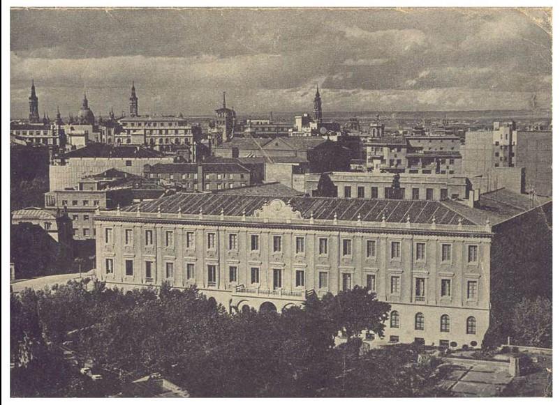 Fotografias antiguas de zaragoza - colegio del salvador vista area