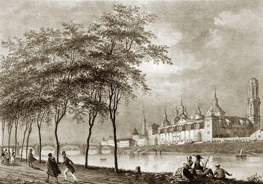 Fotografias antiguas de Zaragoza - Litografía 1844
