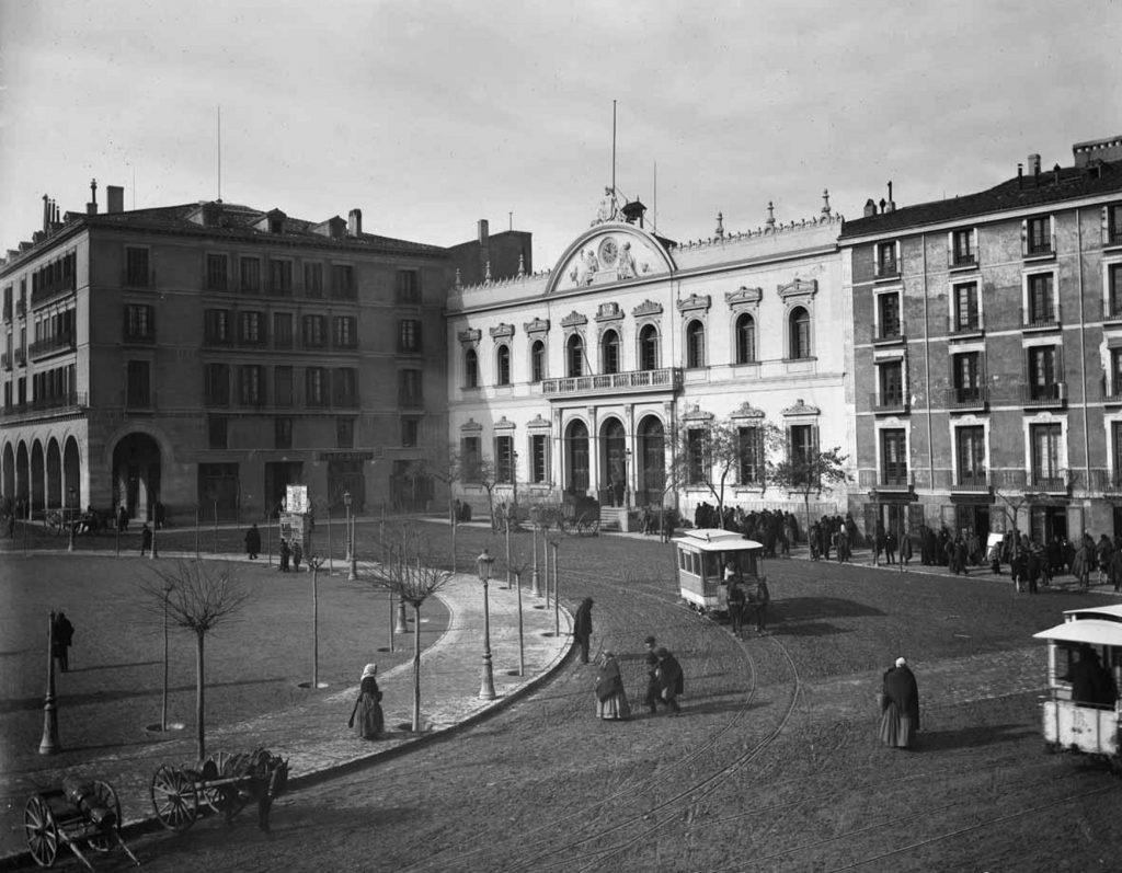 Fotografias antiguas de zaragoza -Plaza españa 1889