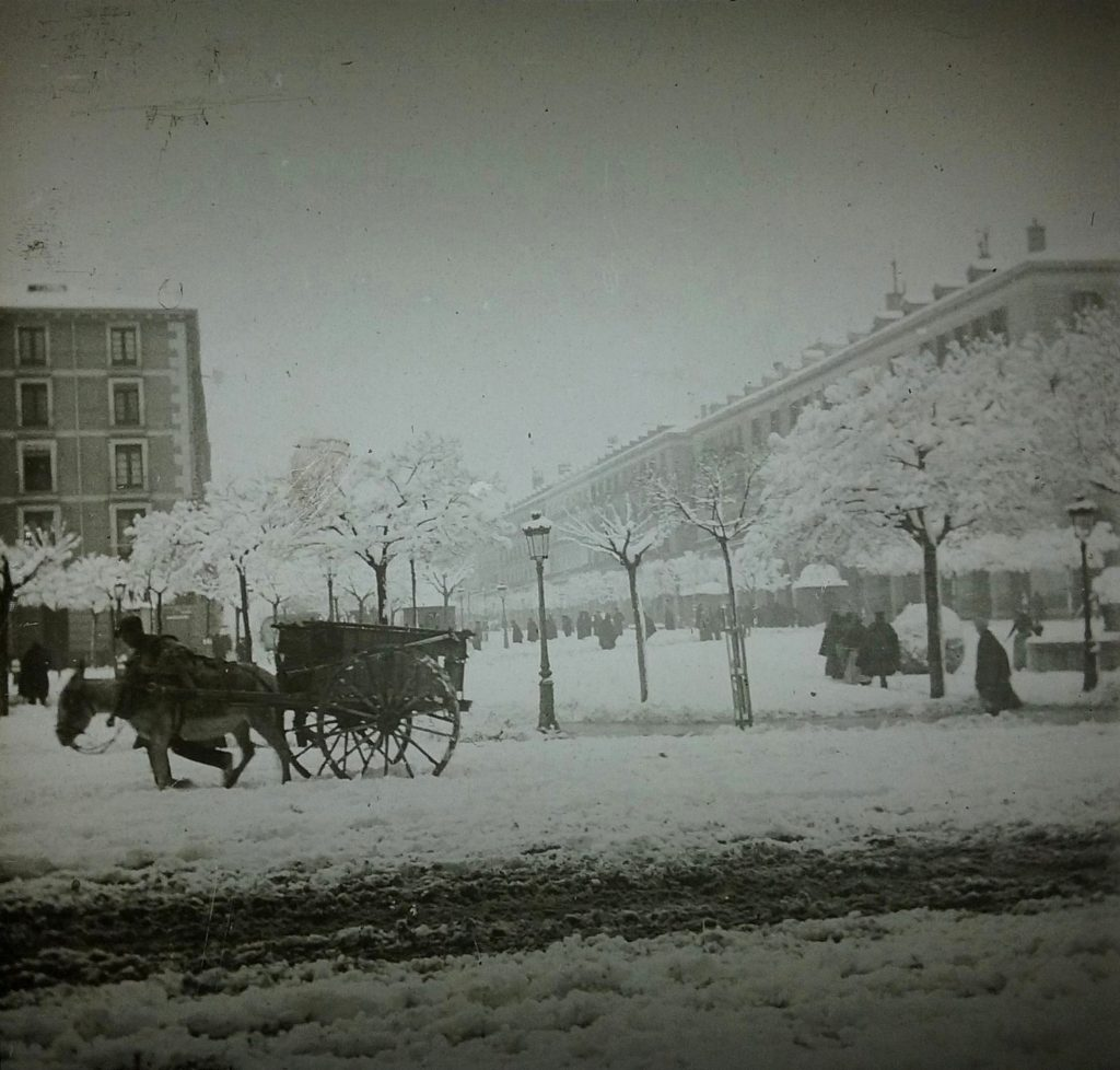 Fotografias antiguas de zaragoza -Plaza españa 1901 nevada