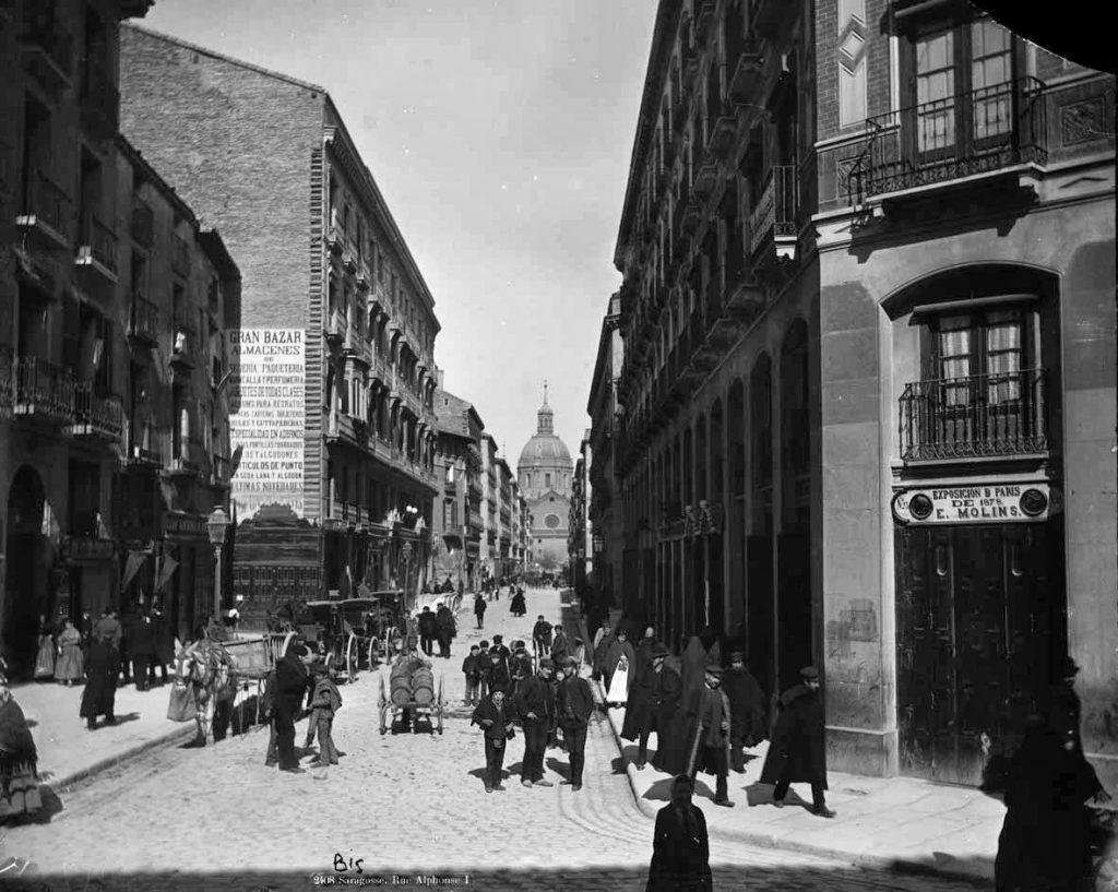 Fotografias antiguas de zaragoza - calle alfonso