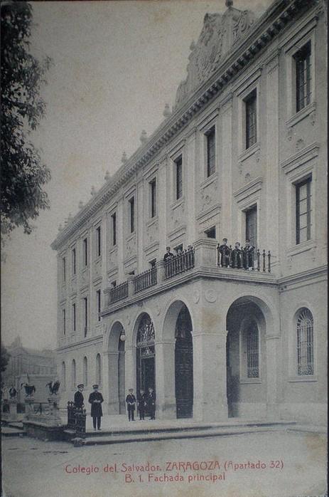 Fotografias antiguas de zaragoza - colegio del salvador - Fuente gran archivo zaragoza antigua