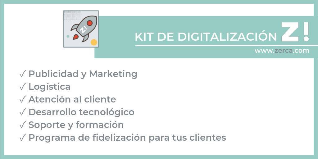 Kit de digitalización de la plataforma zerca!