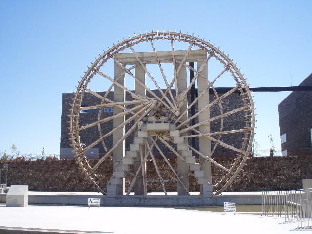 La noria de agua de Zaragoza al principio era de madera