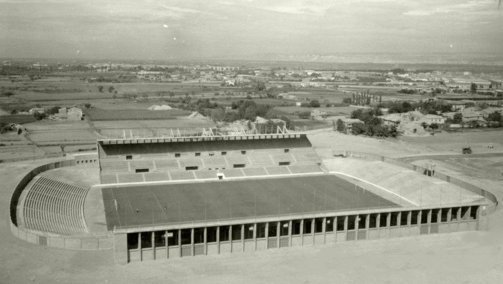 Estadio La Romareda en 1957, el año de su inauguración