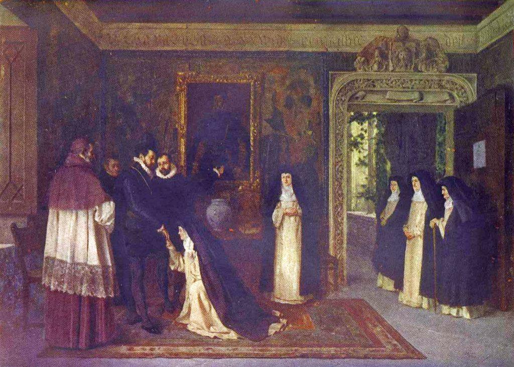Felipe II en 1585 en Zaragoza, en el Palacio de Sástago