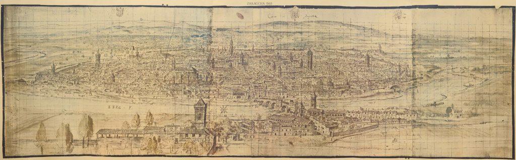Vista de Zaragoza en el año 1563