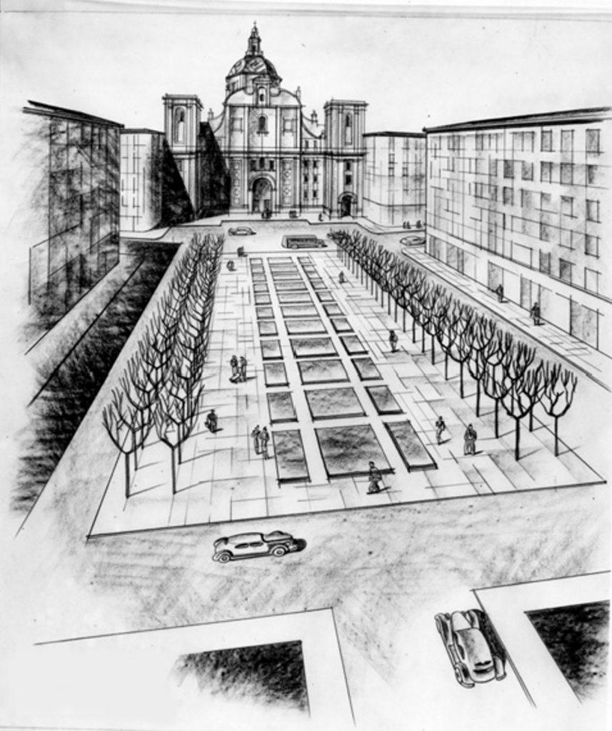 Proyecto plaza Salamero en 1939