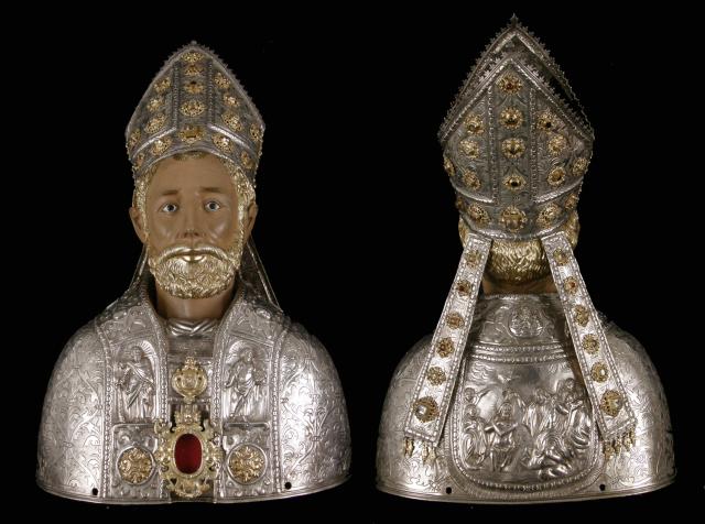 Busto de San Valero, en el Museo Diocesano de Zaragoza