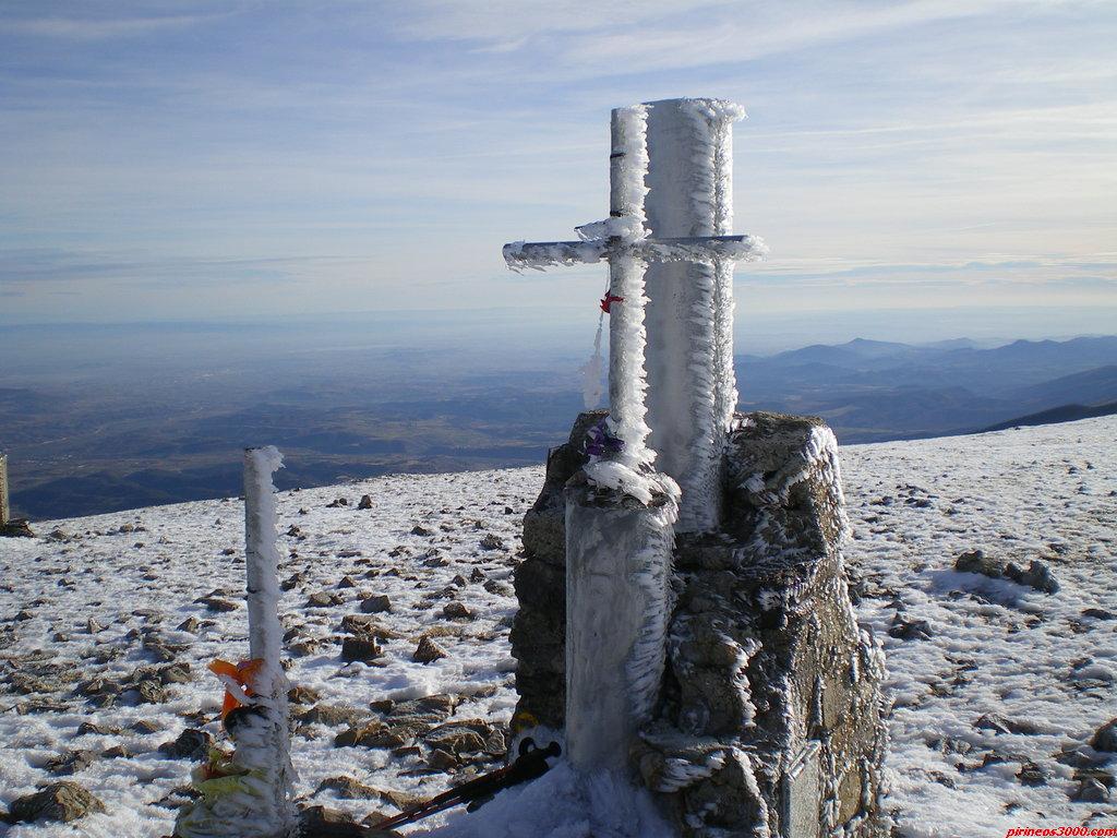 La cima del Moncayo a 2314 metros de altura