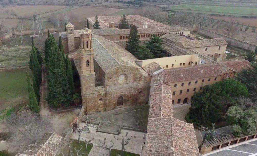 Vista aérea del Monasterio de Veruela, cerca de Vera del Moncayo