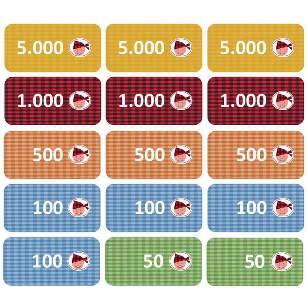 Cachirulos, la moneda oficial del juego de mesa Mañópolis