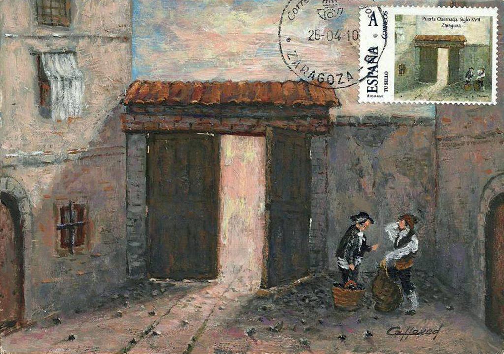 La puerta Quemada, una de las 12 puertas de Zaragoza, situada al final de la calle Heroísmo