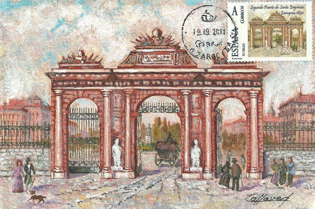 La segunda puerta de Santa Engracia, en el paseo de la Independencia