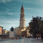 Plaza del Pilar con La Seo al fondo, Zaragoza