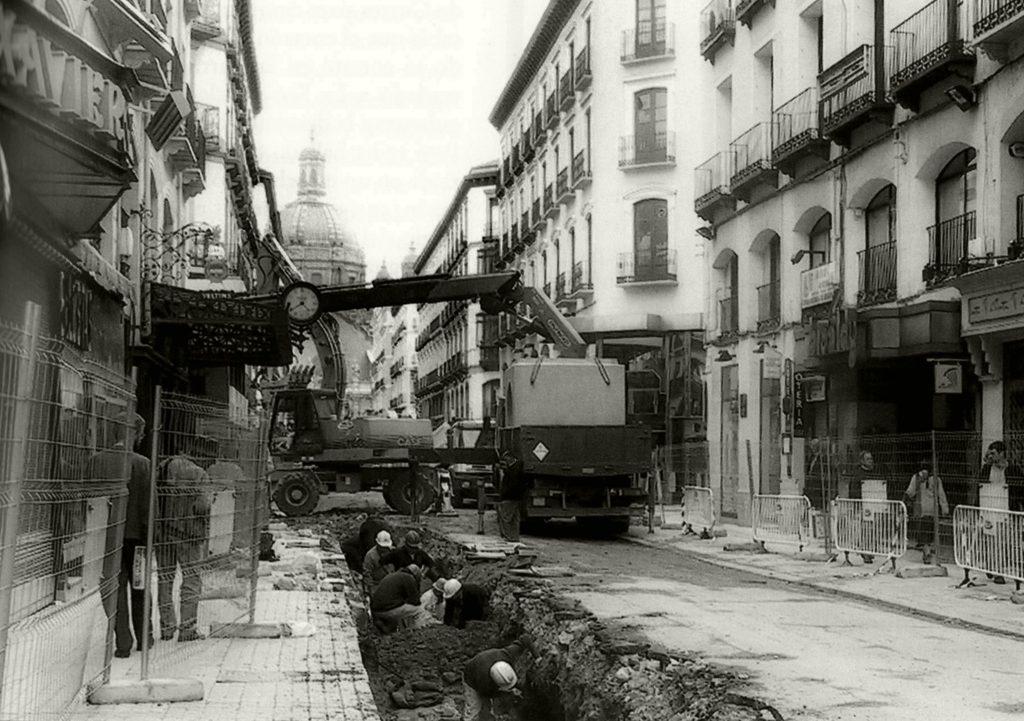 Proceso de peatonalización de la calle Alfonso I de Zaragoza