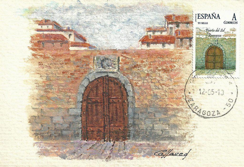 Puerta del Sol, situada al final del actual Coso Bajo