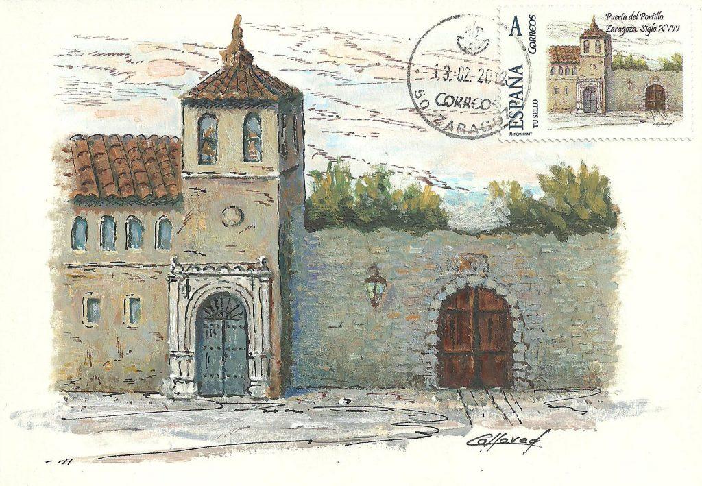 Una de las 12 puertas de Zaragoza fue la puerta del Portillo