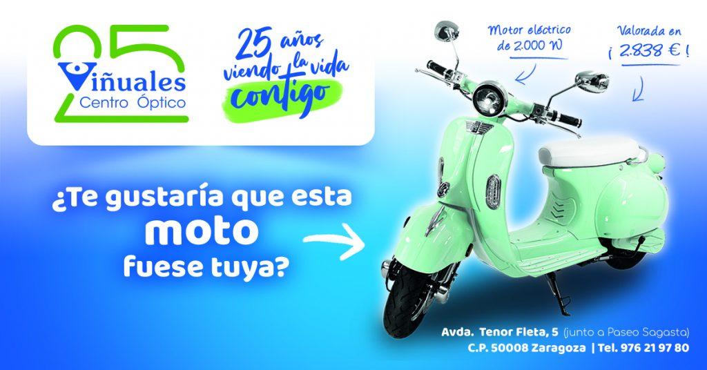 La Óptica Viñuales celebra su 25 aniversario sorteando una moto