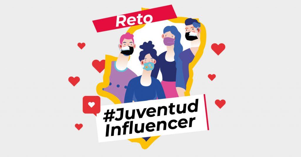 Banner del reto #JuventudInfluencer de Hunteet con el IAJ