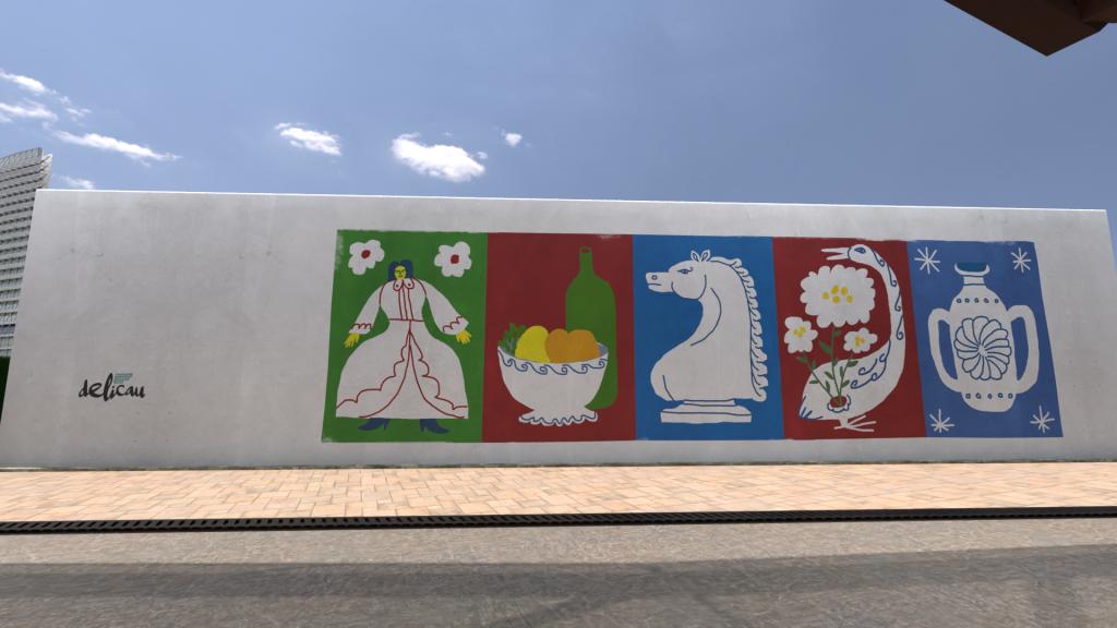 Mural a cargo de Asalto y Maiky Maik