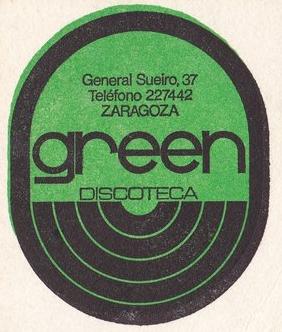 Discoteca Green, la que más duró en la noche de Zaragoza