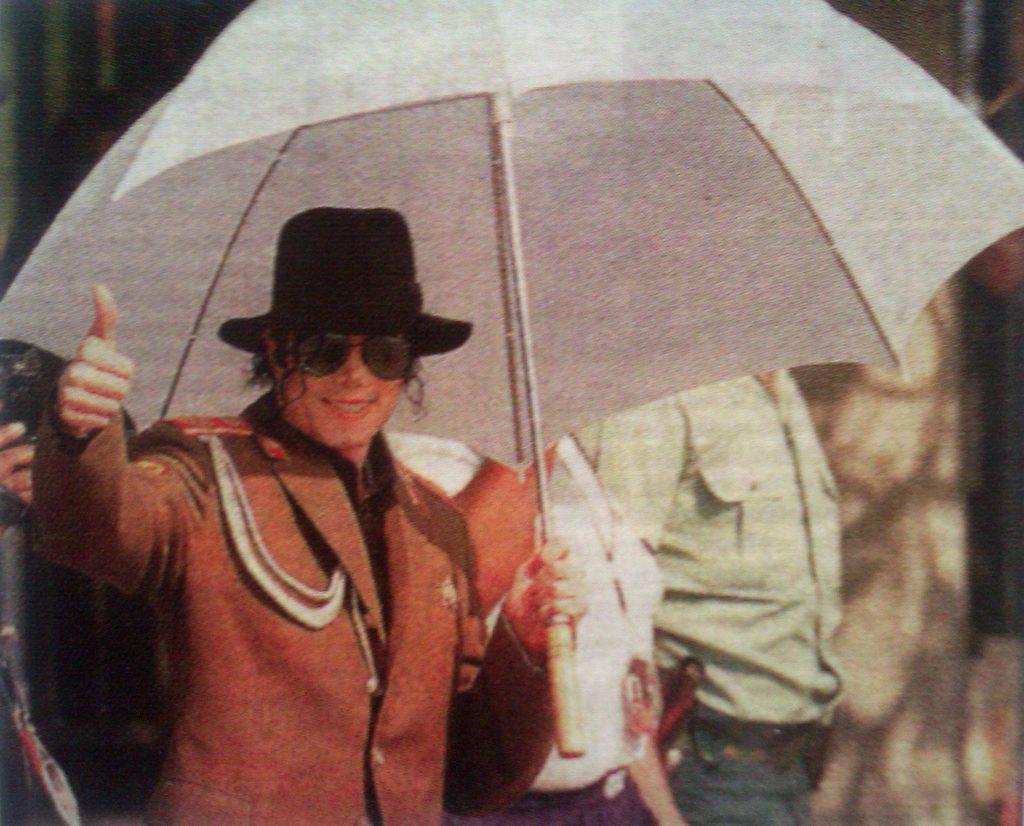 Michael Jackson visitó Zaragoza el 24 de septiembre de 1996 para dar un concierto en la ciudad
