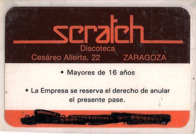 Carnet de la discote Scratch en Zaragoza