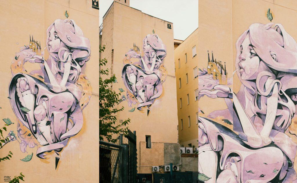 Madonna-del-viento-Zaragoza-representada-en-arte-urbano