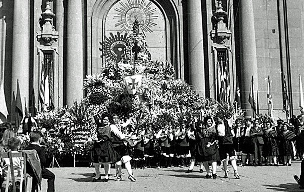 La historia de las Fiestas del Pilar, Ofrenda de Flores de 1958