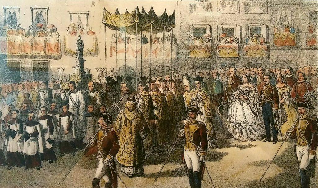 La historia de las Fiestas del Pilar, procesión a la Virgen
