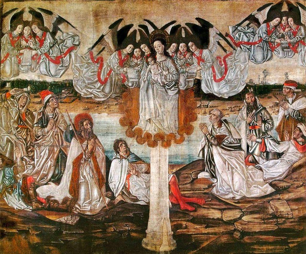 Representaicón de la Venida de la Virgen del Pilar a Zaragoza